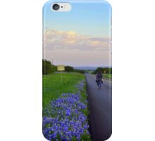 Cycling on a Texas Evening iPhone Case/Skin