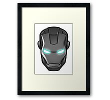 Iron man, grey-scale Framed Print