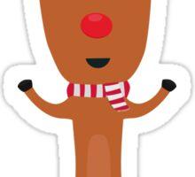 Winter Reindeer with scarf Sticker