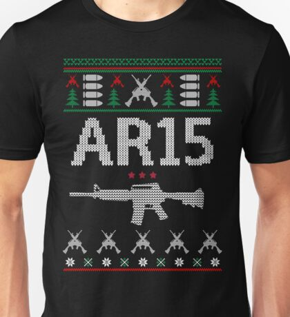 Ar15 Ugly Christmas Sweater, Funny Men Women AR 15 Gun Lovers Gift Unisex T-Shirt