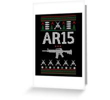 Ar15 Ugly Christmas Sweater, Funny Men Women AR 15 Gun Lovers Gift Greeting Card