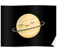 Happy Planet Saturn Poster