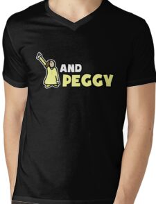 AND PEGGY! Mens V-Neck T-Shirt