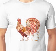 Patterned Rooster  Unisex T-Shirt