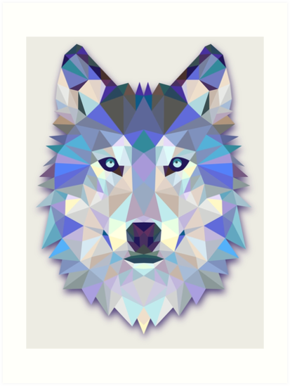 Quot abstract wolf quot art prints by martinestella redbubble