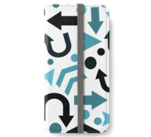 Cyan right direction  iPhone Wallet/Case/Skin