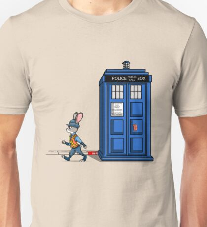 The Tardis Gets A Ticket Unisex T-Shirt