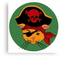 The Dread Pirate Kitty Canvas Print