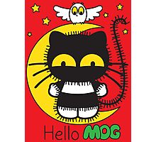Hello Mog - Red Photographic Print