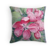 Flower of Crab-apple Throw Pillow
