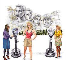 Big Bang Theory Mount Rushmore by Jesse Rubenfeld
