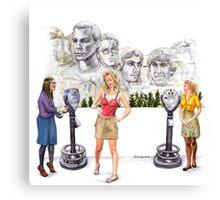 Big Bang Theory Mount Rushmore Canvas Print