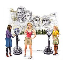 Big Bang Theory Mount Rushmore Photographic Print