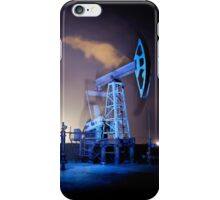 Oil Rigs at night. iPhone Case/Skin