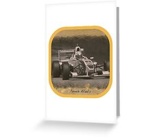 Formula Atlantic Race Car Greeting Card