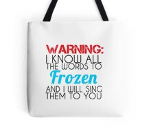 warning words Tote Bag