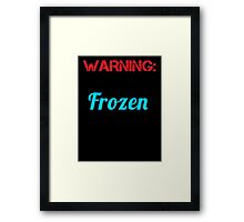 warning words Framed Print