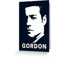 Gotham & Batman - James Gordon Portrait Greeting Card