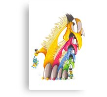 M'ODD'STER 09 - EARLY'BIRD GETS THE MONSTER Canvas Print