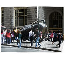 Charging Bull of Wall Street New York Poster