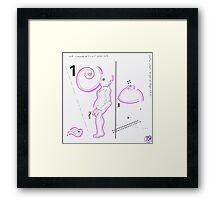 Night Drawings #79 - Breast & Nude again Framed Print