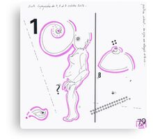 Night Drawings #79 - Breast & Nude again Canvas Print