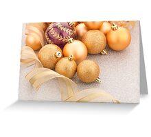 Golden christmas balls Greeting Card