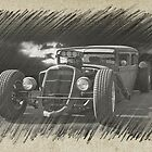 Rat Rod Sedan Sketch 2 by DaveKoontz
