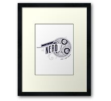 I Am A Nerd Framed Print