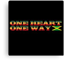One Heart Reggae Canvas Print
