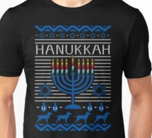 Hanukkah Ugly Christmas Sweater T-Shirt, Mens Womens Gift Unisex T-Shirt