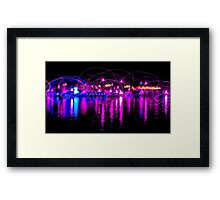 Dancing Lights two Framed Print