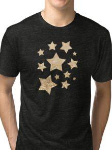 Beautiful champagne gold glitter sparkles Tri-blend T-Shirt