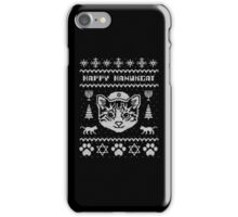 Happy Hanukcat T-Shirt, Funny Jewish Hanukkah Ugly Sweater T-Shirt iPhone Case/Skin