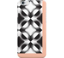 Black and White Star Print w/ Red Border iPhone Case/Skin