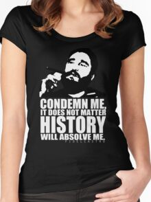fidel castro Women's Fitted Scoop T-Shirt
