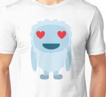 Yeti Emoji Heart and Love Eyes Unisex T-Shirt