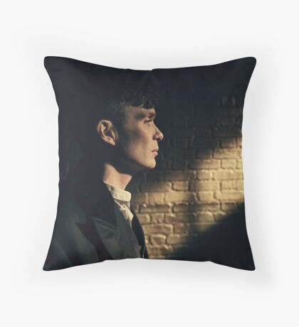 Tommy Shelby - Peaky Blinders - Cillian Murphy Poster Throw Pillow