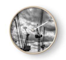 Tower Cranes on City of London Skyline Clock