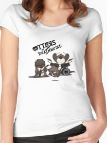 OTTERS OF DEATHMETAL v.2 Women's Fitted Scoop T-Shirt