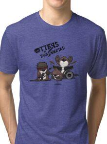OTTERS OF DEATHMETAL v.2 Tri-blend T-Shirt