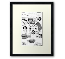 Revolving Fire Arm Patent 1881 Framed Print