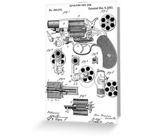 Revolving Fire Arm Patent 1881 Greeting Card