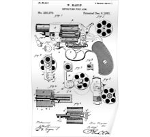 Revolving Fire Arm Patent 1881 Poster