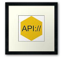 API Framed Print