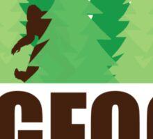 Bigfoot Sasquatch Hide and Seek World Champion Sticker