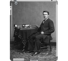 Edison and his invention the phonograph in 1878 iPad Case/Skin