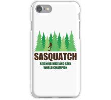 Bigfoot Sasquatch Hide and Seek World Champion iPhone Case/Skin