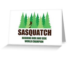 Bigfoot Sasquatch Hide and Seek World Champion Greeting Card