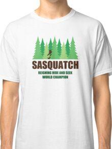 Bigfoot Sasquatch Hide and Seek World Champion Classic T-Shirt